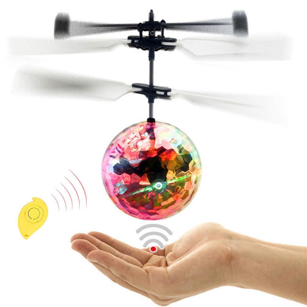 Радиоуправляемый летающий шар, вертолет, встроенное Сверкающее светодиодное освещение для взрослых, антистресс, цветной шар, игрушка для д...
