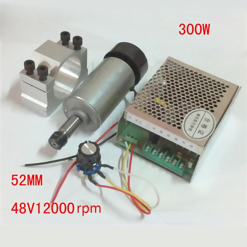 48VDC 300 واط 2300 جرام/سم 0.3KW عالية السرعة موتور تيار مباشر ER11 آلة الحفر المغزل المحرك + ثابت تركيبات حاكم طحن الطبطبات