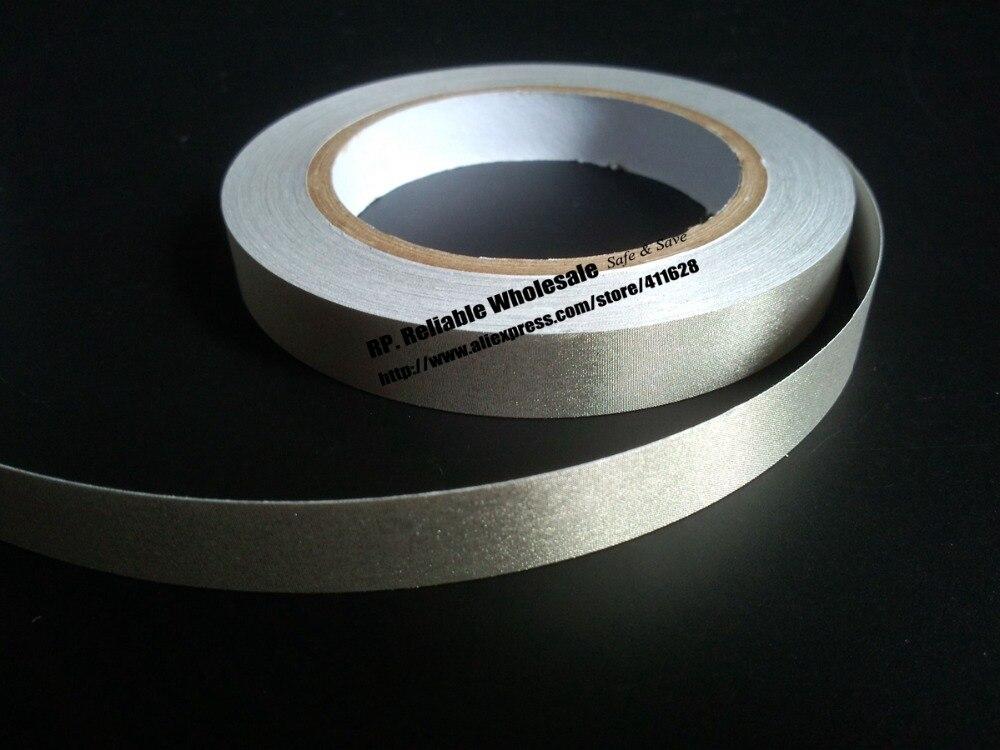 1x16mm * 20 metros, cinta adhesiva de tela conductora plateada, protección de EMI adhesiva EMC única