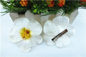 Pince à cheveux en mousse blanche 9cm   Fleur hawaïenne, Hibiscus, fleur de plage, derocate de mariage, 30 pièces, accessoires pour cheveux pour femmes