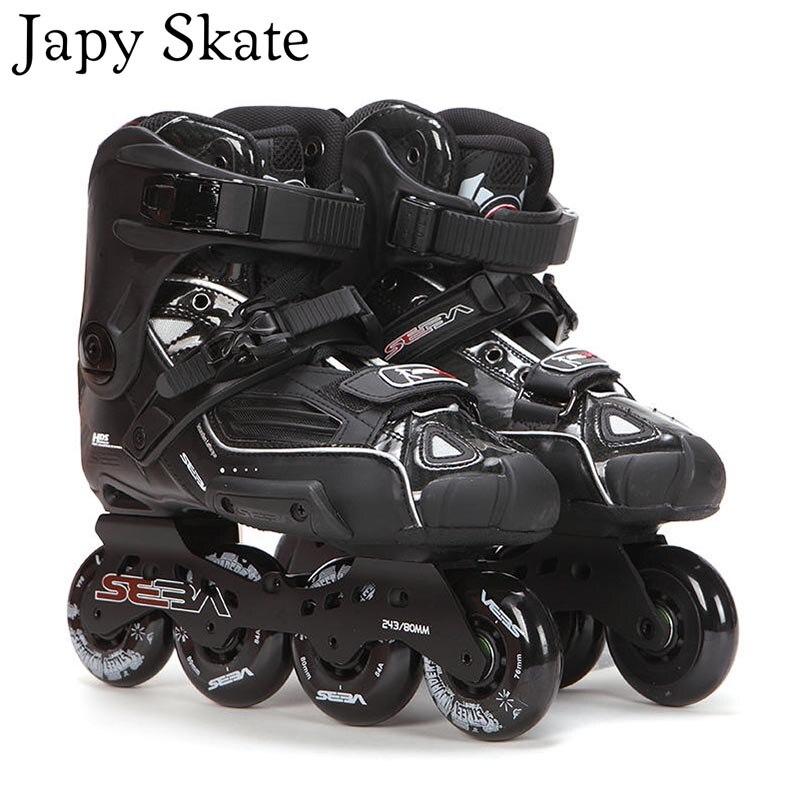 Japy Skate 100% Original SEBA alta Deluxe HD para adultos, Patines en línea, patinaje negro, zapatos Slalom Slide FSK Patines Adulto
