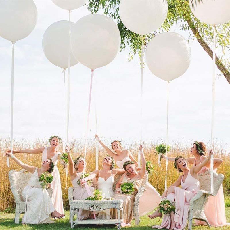 18 дюймовые белые воздушные шары на день рождения, свадьбу, помолвку, свадебный душ для маленьких мальчиков и девочек, девичник, девичник, надпись «Bride Tribe», украшение