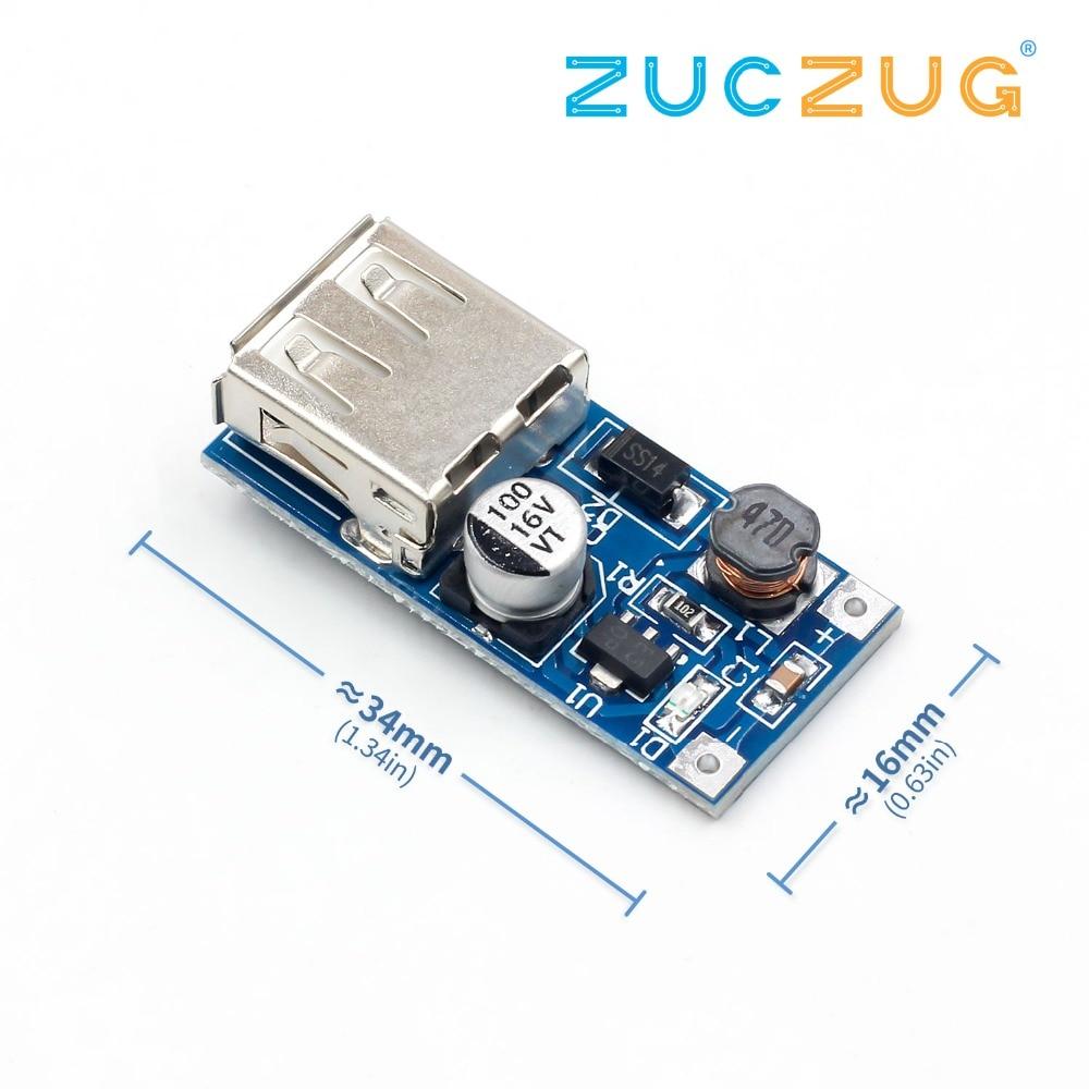 DC 0,9 V-5V a 5V 600MA cargador tipo batería externa aumento convertidor fuente Módulo de voltaje USB salida placa de circuito de carga