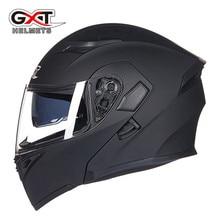 Offre spéciale GXT 902 Moto rcycle casque rabattable modulaire casque moto cyclisme casques noir pare-soleil sécurité Double lentille casque de course