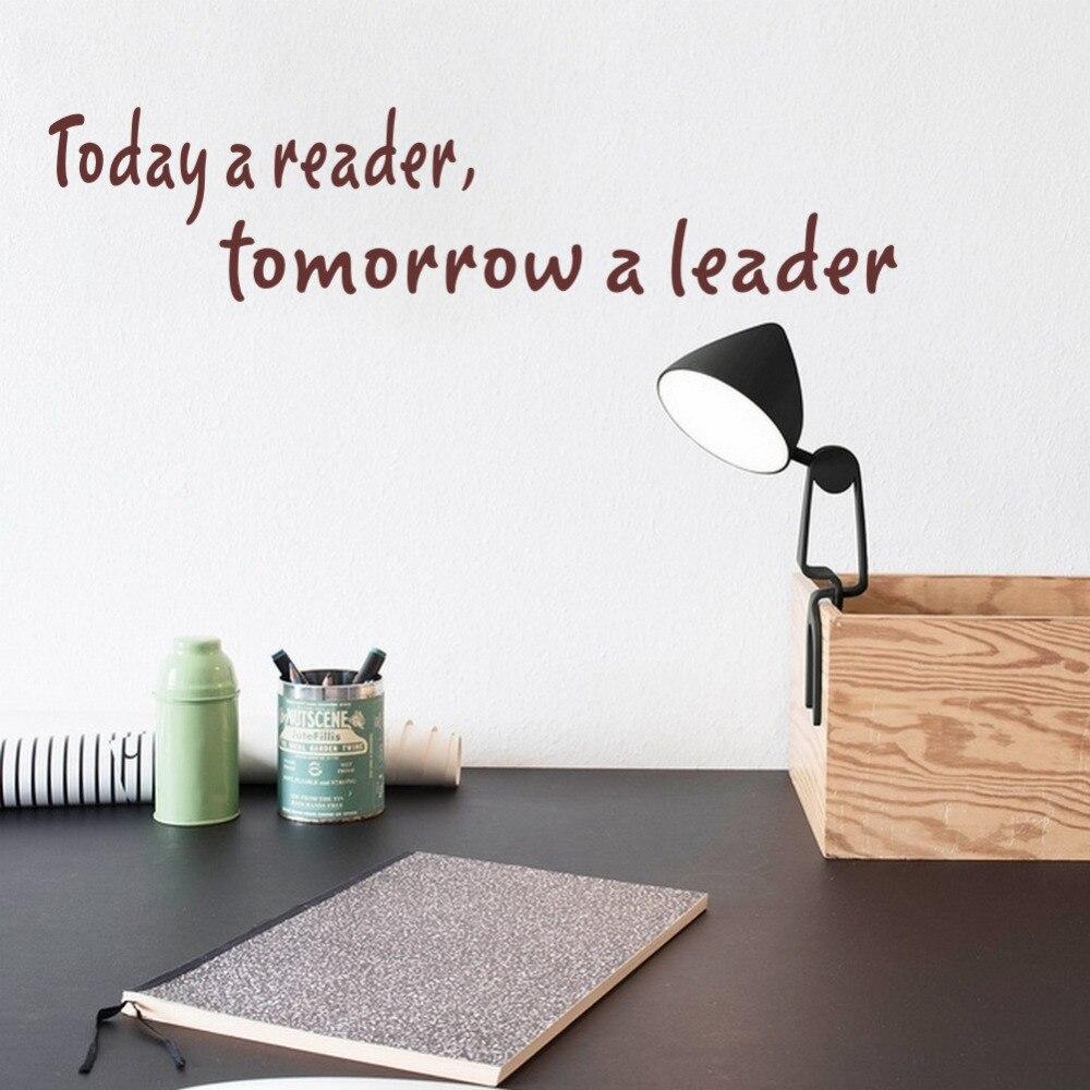 DIY виниловые наклейки с цитатами, наклейки на стену сегодня читатель завтра лидер Наклейка на стену плакат украшение дома доступны различны...