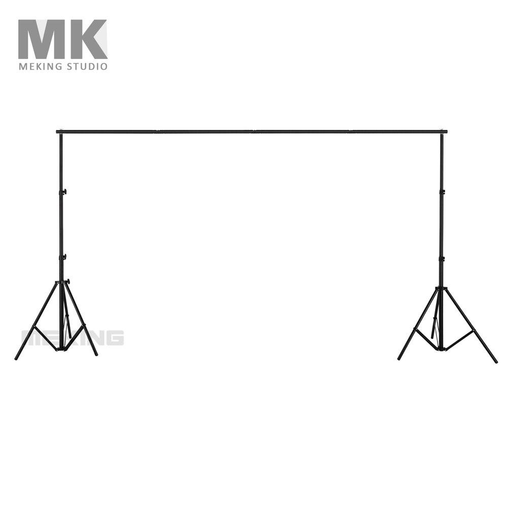 2,8 m * 3,2 m fondos fotográficos sistema de soporte de fondo soporte barra transversal soporte de luz de aluminio con bolsa de transporte