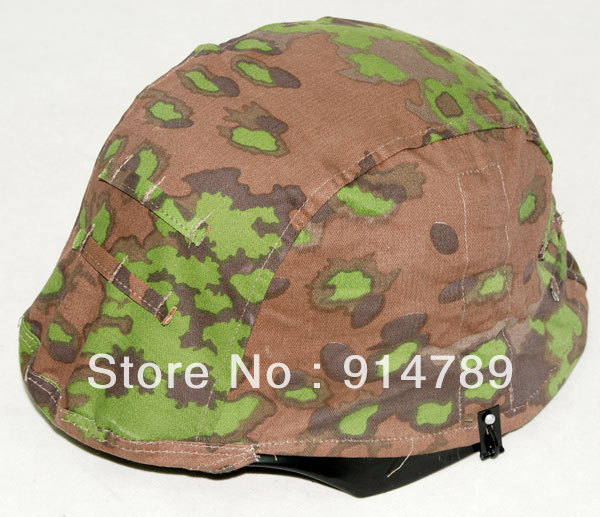 Cubierta de casco REVERSIBLE CAMO M35 roble alemán WWII-45478