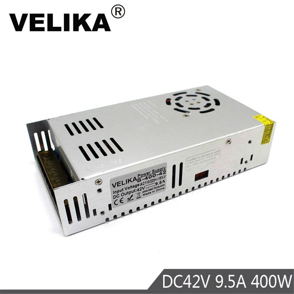 Fuente de alimentación del interruptor DC42V 9.5A 400W transformadores de controlador 220V 110V AC a DC 42V fuentes de alimentación para CNC CCTV cámara de motores paso a paso