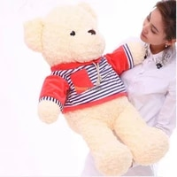 fancytrader new style 47 120cm lovely giant stuffed plush funny teddy bear toy 4 colors available free shipping ft50855