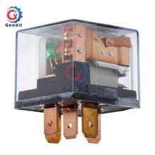 Bouclier de relais pour véhicule 12V 100A   5 broches, Module de relais étanche SPDT, alimentation automatique, Module relais avec indicateur