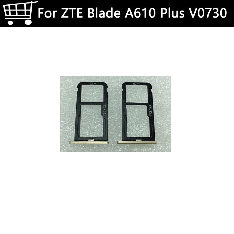 "Bandeja con ranura para tarjeta SIM tarjetero para Zte Blade A610 Plus BLADE teléfono móvil 5,5 ""bandeja con ranura para tarjeta SIM tarjetero envío gratis"