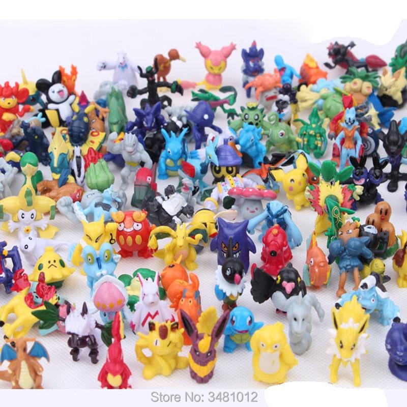 Карманные фигурки животных, покебол Сквиртл, миниатюрные ПВХ экшн-фигурки, мини-фигурки из мультфильмов, аниме, модель кукол, детские игрушк...