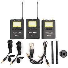 مكثف ميكروفون WM-10 UHF اللاسلكية ميكروفون Lavalier التلبيب هيئة التصنيع العسكري استقبال الارسال ل كاميرات DSLR مسجل Pk comica