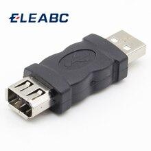 1 pièces 6 broches femelle Firewire IEEE 1394 à USB adaptateur mâle convertisseur en gros
