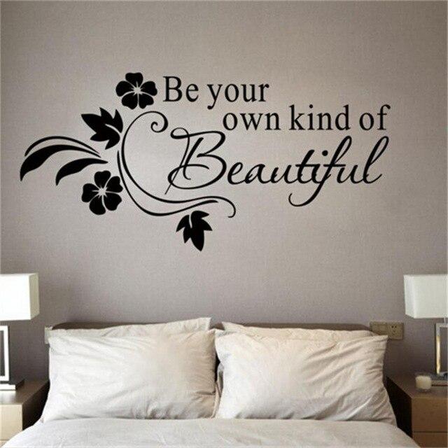 % Sé tu propio tipo de adhesivo de vinilo bonito para la pared palabras de escritura de citas para niños niñas dormitorio baño decoración del hogar decal3