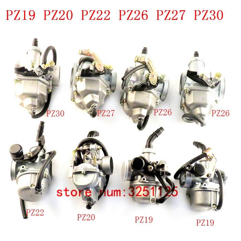 Carburador de motocicleta para PZ19 20 22 26 27 30, Cable de cuña de mano compatible con 50cc- 250CC Dirt Pit bike ATV Quad Go kart SUNL TAOTAO
