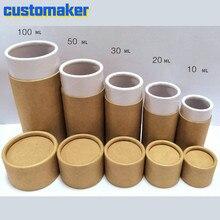 50 Pcs Custom Logo Kartonnen Buizen Met Caps Kraftpapier Buis Voor Etherische Olie 10-100 Oz Koffie Buis container Houder Voor Present