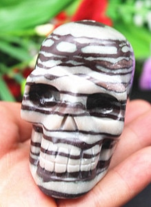281g !!!!!!!New varieties Natural quartz crystal skull to heal