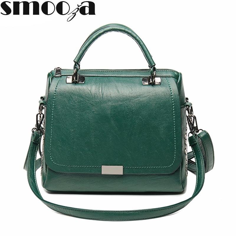 SMOOZA, bolso de mano informal de piel sintética suave para mujer, bolso de hombro femenino, bandolera de talla grande, Bolsos De Mujer para invierno 2020