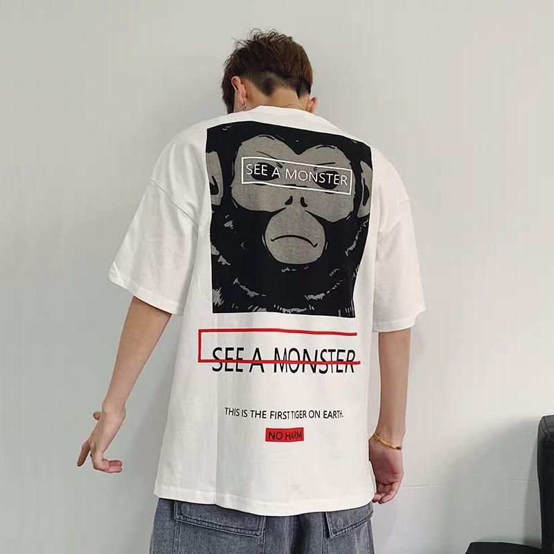 No Fear God Hot Sale Hip Hop 2019 New Arrival Wear Summer Short-sleeved Leisure Loose Printed Half Casual O-neck T Shirt Men