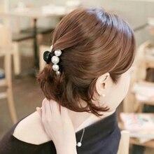 M MISM New Korean Fashion Pearl Hairpin Hair Clips Hair Claws Women Girls Mother Elegant Flower Wedding Elegant Hair Accessories