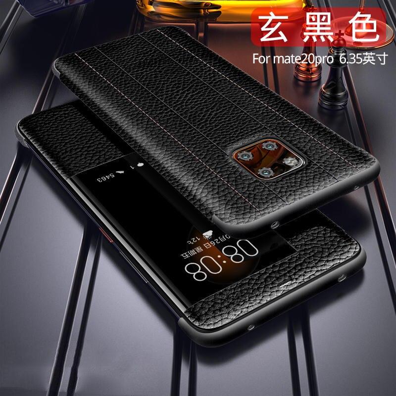 Funda de cuero genuino para Huawei MATE 20 PRO, mate 20 x, P20 PRO, mate 10 pro, mate 9 pro cubierta de lujo de primera capa de piel de vaca