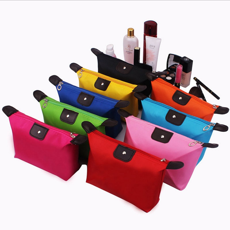 simple waterproof canvas makeup pouch fashion 2020 new cosmetic bag women makeup organizer toiletry bag travel cosmetics bag Women Travel Toiletry Make Up Cosmetic pouch bag Clutch Handbag Purses Case Cosmetic Bag for Cosmetics Makeup Bag Organizer
