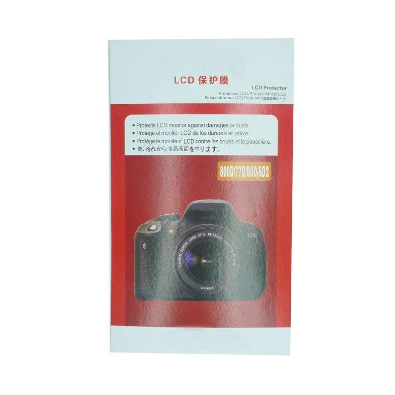 Película de Proteção de Tela da Câmera para Canon Pedaço Macio 600d 60d 6d 700d 750d 70d 1200d 1300d 1500d 200d 100d m3 m5 M10 5d2 20 5d3