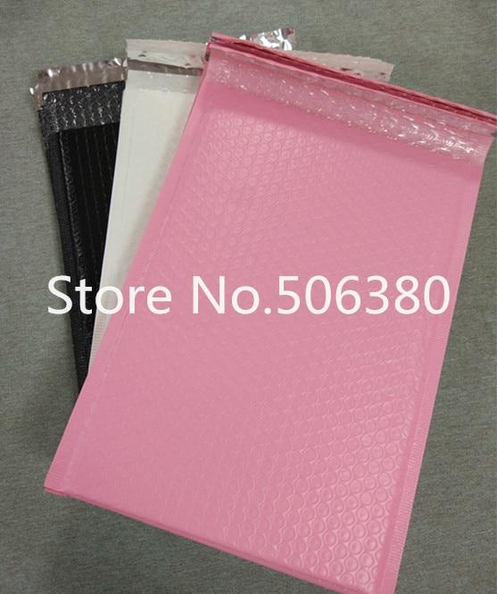 أظرف بريد فقاعية مبطنة ، 250 × 340 مللي متر ، قابلة للاستخدام ، ذاتية الغلق ، وردي وأبيض وأسود ، 30 قطعة