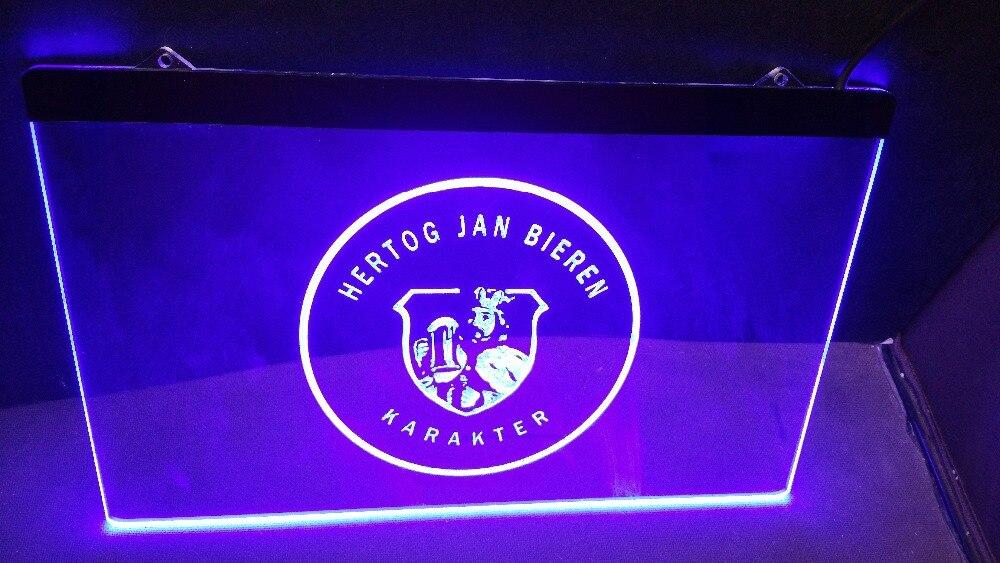 B152 Hertog Jan Bieren Karakter beer bar pub LED Neon Light Sign Wholeselling Dropshipper