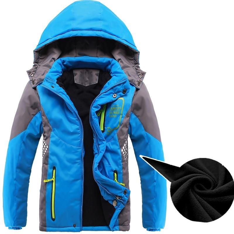 Abrigo grueso de invierno para niños, ropa infantil de doble cubierta a prueba de viento, chaquetas para niños y niñas de 3 a 14 años
