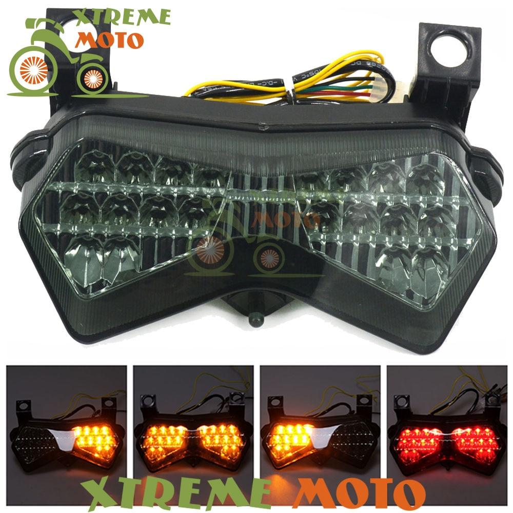 Задний стоп-светильник для мотоцикла, интегрированный для Kawasaki ZX6R 636 ZX6RR Z750S 2003 2004 Z1000 2003-2006