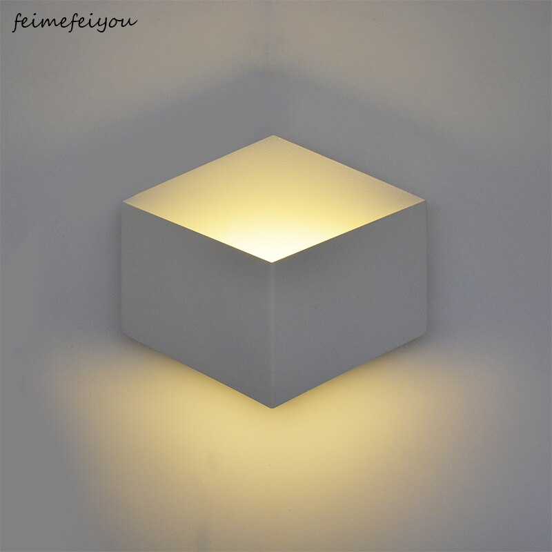 LED 벽 Sconce 빛 5W 현대 간단한 알루미늄 거실 침실 복도 벽 램프 욕실 기하학적 벽 빛 AC85-265V