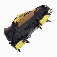 Professional Bundled Ice Climbing Crampons 10 Teeth Manganese Steel Crampons Ice Gripper Hiking Skiing Equipment Shoe Covers