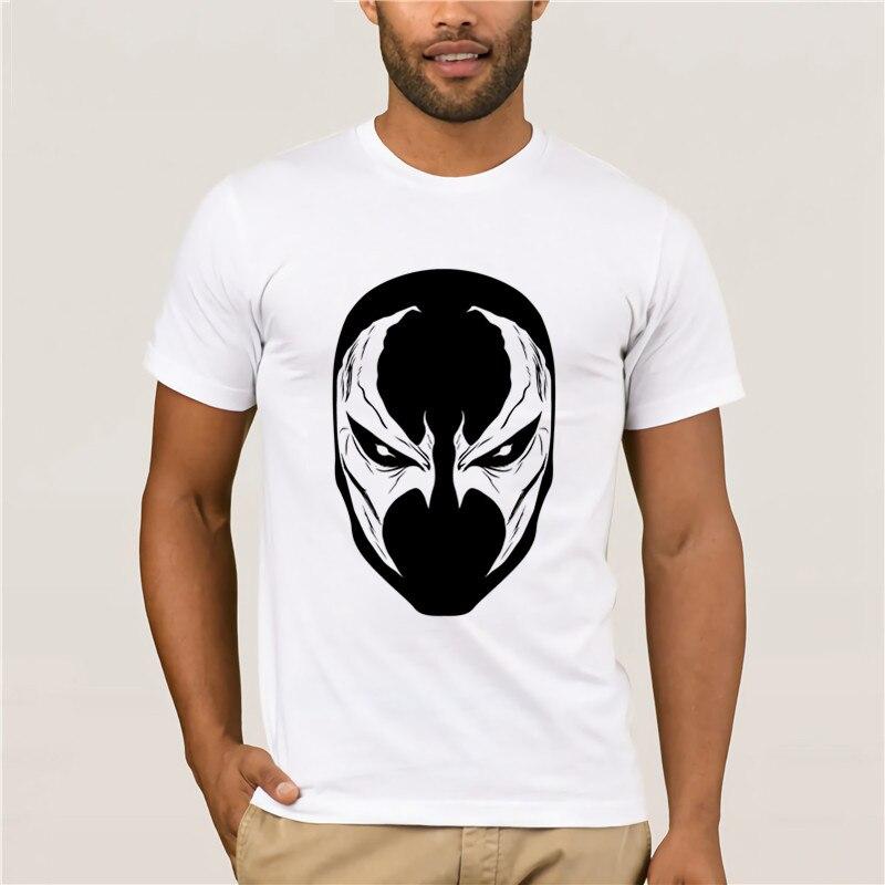 Moda casual em torno do pescoço legal do homem camiseta de impressão casual