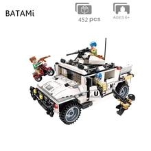 Maquettes kits de construction compatibles avec la ville bloc Swat tonnerre Mission Hummer voiture ensembles 452 pièces briques 4 minfigure jouets