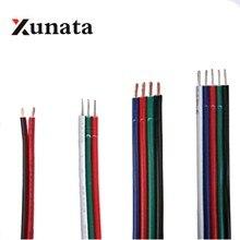 Câble dextension 5 broches 3PIN 4PIN RGB RGBW   Câble électrique 1m/10m/20m/100m, câble dalimentation 22AWG, livraison gratuite