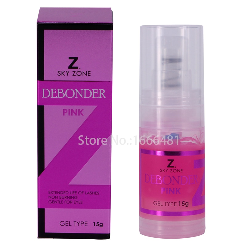 2pcs/lot Sky Zone Professional Eyelash Glue Remover Adhesive Debonder Gel Type For Eyelashes Extension Makeup Removers Tool