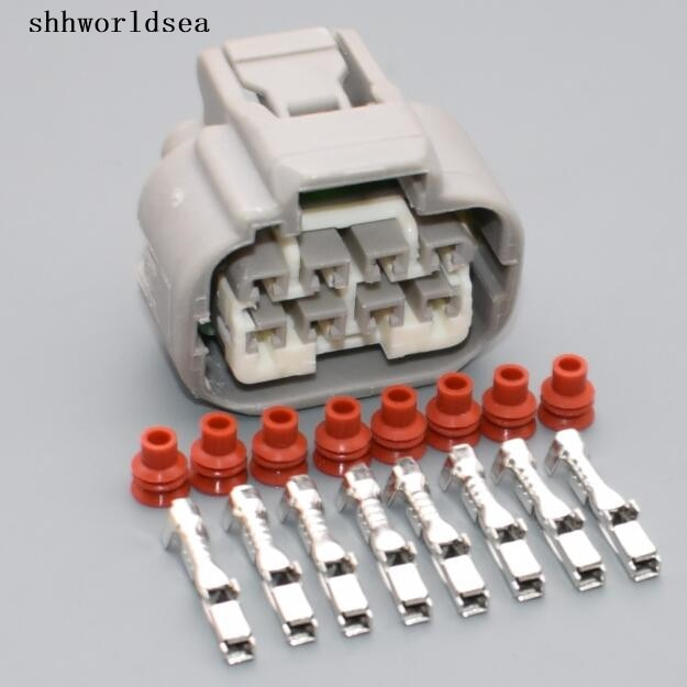 Shhworldsea 2/5/30/100 set 2,2mm 8pin enchufe de carcasa eléctrica automática conector de plástico impermeable 7283 -1288-40