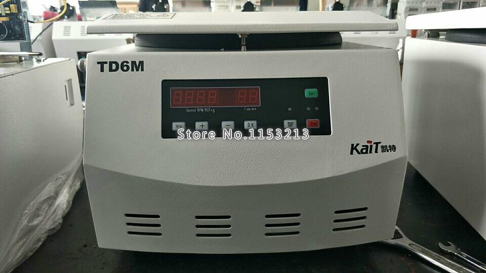 Centrifugeuse de laboratoire TD6M 6000 tr/min centrifugeuse de bureau à basse vitesse expérience médicale centrifugeuse daffichage numérique 50 ml * 6