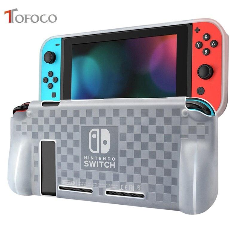 TOFOCO housse de protection en TPU pour Nintendo Switch NS/X Console Joy-Con manette anti-rayures Anti-chute coque transparente