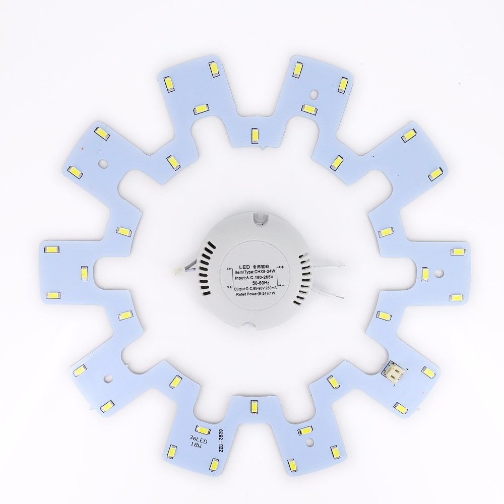 Tablero de techo, lámpara circular, 18 W, accesorio de techo, anillo LED, Panel de luces en círculo 180 V-265 V AC SMD 5730
