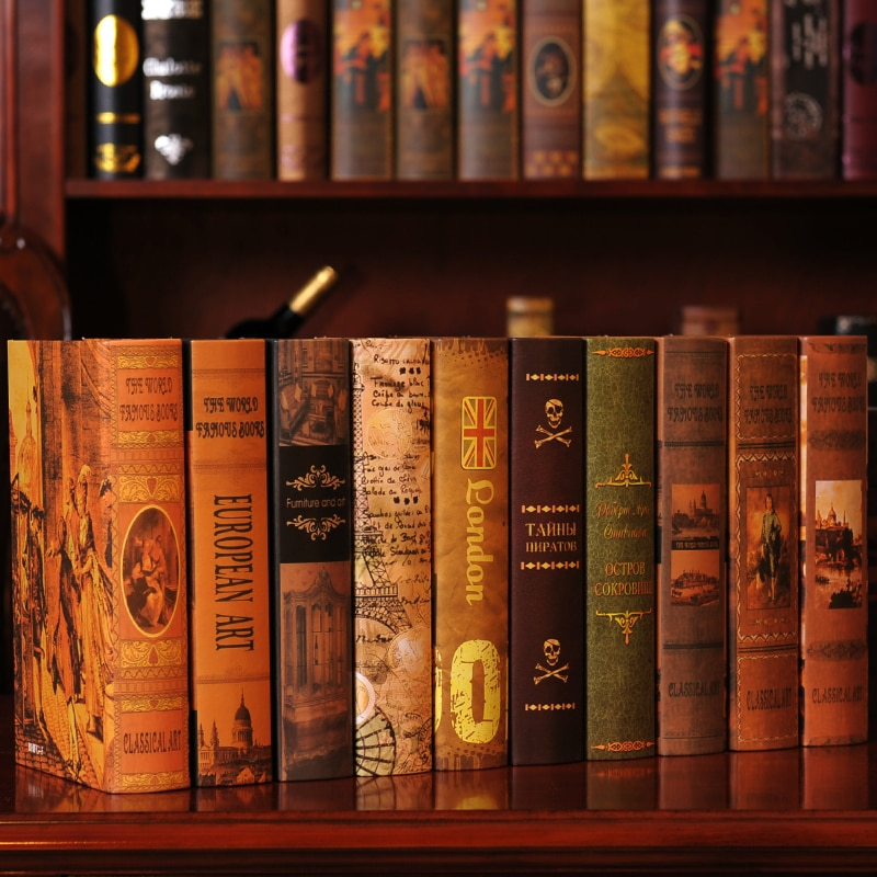 10PCS Imitate Box Of Furniture For Rather Than Use Improvement Study Book Decoration Prop Book False Restore Pendulum Decorate
