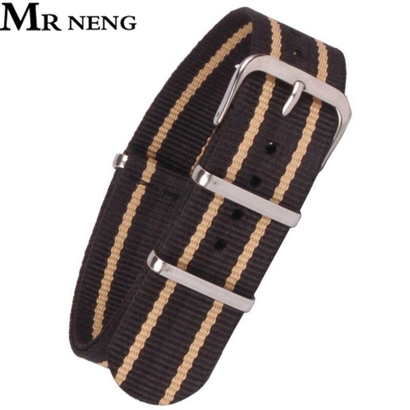 MR NENG Brand high quality watchband 18mm 20mm 22mm NATO black beige Watch Band ZULU nato strap 22 mm