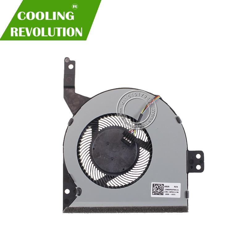 Новый оригинальный охлаждающий вентилятор для процессора ASUS X542 X542BA X542U X542UA X542UQ X542UR 13N1-26P0211 13NB0FD0T04111