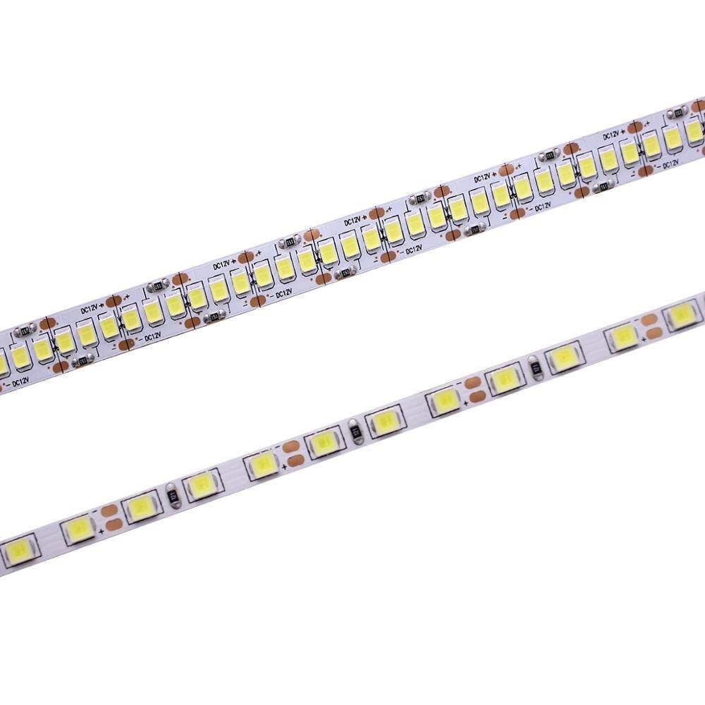 狭幅 DC12V led ストリップ 2835 120/240led/m 5 メートル柔軟なストリップライト白、ウォームホワイト、ブルー、グリーン、レッド no 防水ストリップ