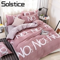 Solstice Home Textile Auburn Duvet Cover Stripe Sheet Pillow Case Woman Adult Bedding Set 3-4Pcs Twin Full Queen King Bed Linens