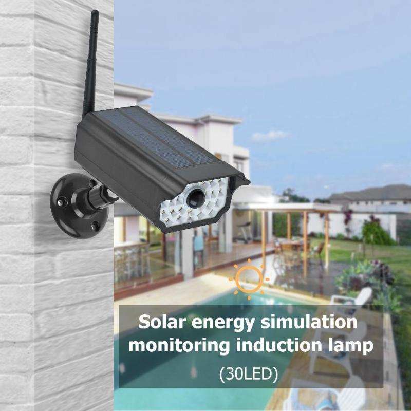 Solar Power Dummy Camera Beveiliging Waterdicht Fake Camera Outdoor Indoor Bullet Led Monitor Anti-Diefstal Thuis Inductie Lamp