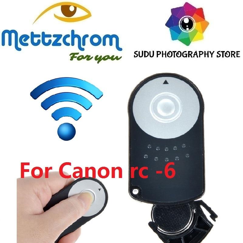 RC-6 Para Canon 5DIII EOS Controle Remoto Sem Fio IR 5 60D 550D 600D 7D 5DII 650D 6D MARK II 80D 70D 60D RC6 RC 6 METTZCHROM remoto