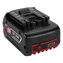 18V 6000mah akumulator litowo-jonowy do Bosch 18V bateria zapasowa 6.0A przenośny zamiennik do Bosch BAT609 lampka kontrolna